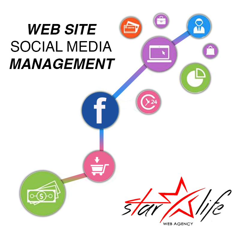 Web site and social media management